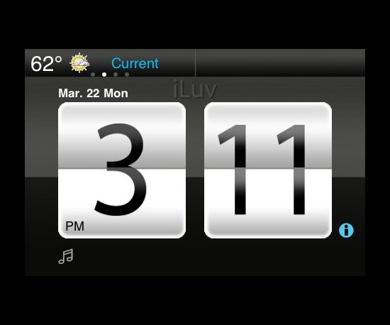 Photos of iLuv Alarm iPhone App