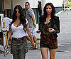 Slide Photo of Kourtney and Kim Kardashian in Miami