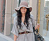 Slide Photo of Vanessa Hudgens Wearing a Large Hat in Los Angles