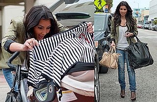 Photos of Kim Kardashian, Mason and Kourtney Kardashian Shopping in Miami