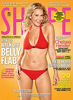 Chelsea Handler on Cover of Shape Magazine April 2010