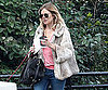 Slide Photo of Sienna Miller Walking Dog in London