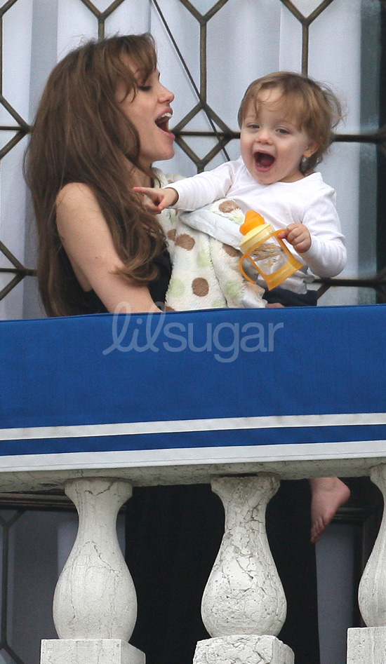 Knox Jolie-Pitt and Angelina in Venice