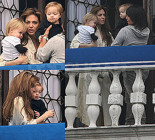 Photos of Angelina Jolie With Twins Knox and Vivienne on Their Venice Balcony