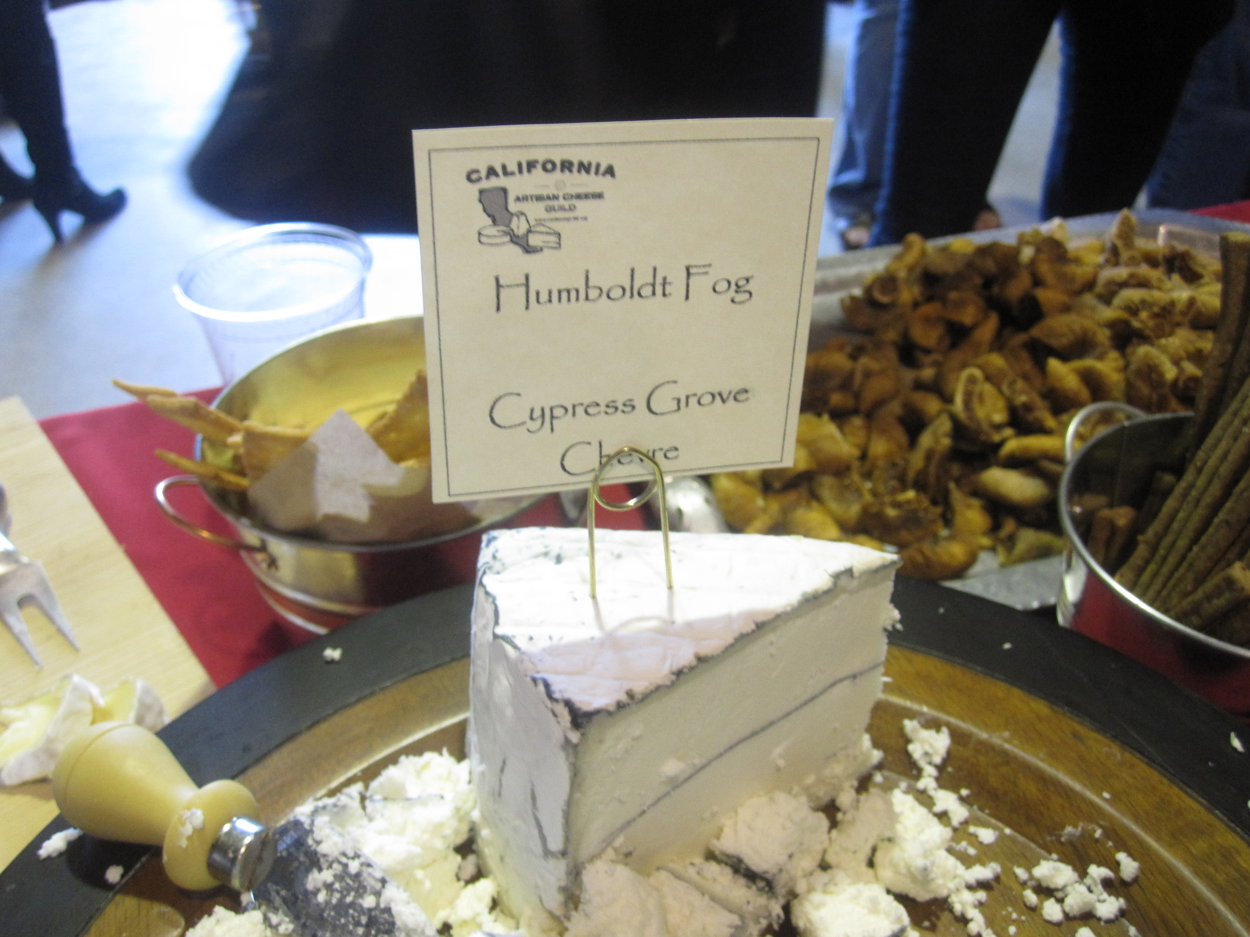 Humboldt Fog is always a crowd-pleasing goat cheese.