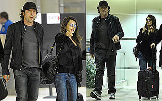 Photos of Penelope Cruz and Javier Bardem Going to a Flight at LAX