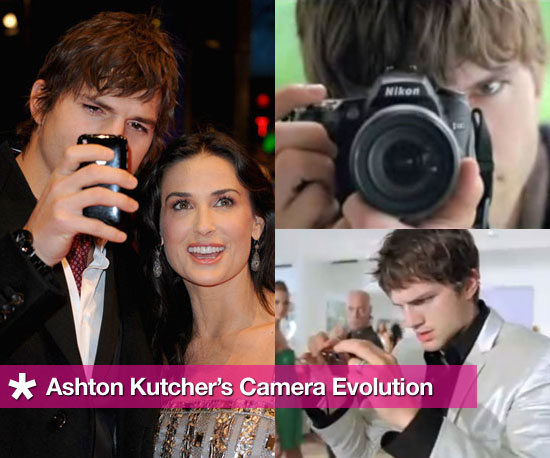Ashton Kutcher's Camera Evolution