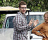 Slide Photo of Justin Timberlake on Bad Teacher Set in LA
