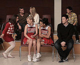 Is it just me or does Finn look a bit distracted as Puck and Quinn flirt behind him?