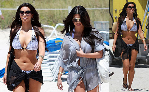 Photos of Kim and Kourtney Kardashian in Bikinis in Miami
