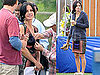 Photos of Courteney Cox Filming Cougar Town