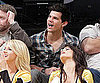 Slide Photo of Taylor Lautner at Lakers Game