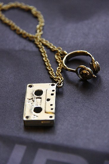 Cassette and Headphones Pendant ($21)