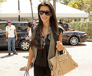 Slide Photo of Kim Kardashian With Balenciaga Bag