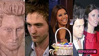 Robert Pattinson Chocolate Head, Robert Pattinson Filming Bel Ami, and Lindsay Lohan Falling