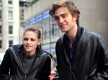 Robert Pattinson and Kristen Stewart leaving Budapest....