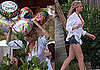 Photos of Cameron Diaz in Miami Wearing a Cover-up Over Her Bikini