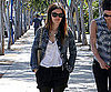 Slide Photo of Rachel Bilson In Beverly Hills Wearing Cut Off Jeans