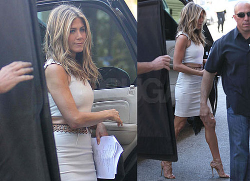 Photos of of Jennifer Aniston In A Hot White Dress On Set of Just Go With It In LA