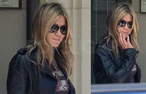 Photos of Jennifer Aniston and Adam Sandler Filming Just Go With It in LA