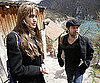 Slide Photo of Angelina Jolie and Brad Pitt in Bosnia
