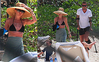 Photos of Victoria Beckham in a Bikini While on Vacation With David And Their Sons in The West Indies