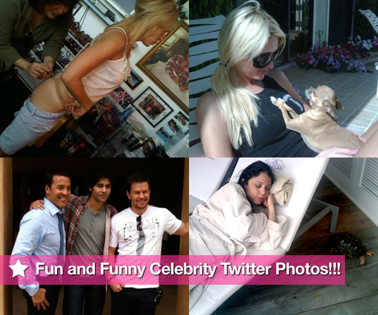 Entourage Guys, Lindsay Lohan and Bethenny's Honeymoon in This Week's Celebrity Twitter Photos!