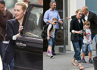 Photos of Kate Winslet and Ex-Husband Sam Mendes Taking Kids to School in NYC