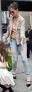 Katie Holmes Wears Distressed Jeans With Suri in NYC