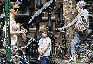 Pictures of Sarah Jessica Parker and Son James Wilkie Broderick in NYC After Sex and the City 2 Trailer Comes Out