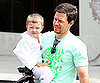 Slide Picture of Mark Wahlberg and His Son Michael