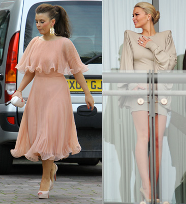 Photos of Coleen Rooney and Alex Curran at the 2010 Grand National at Aintree