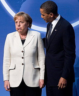 President Obama and German Chancellor Angela Merkel at the Nuclear Security Summit