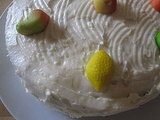 Homemade Carrot Cake With Cream Cheese Frosting and Marzipan