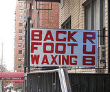 Back Foot Waxing Rub