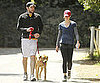 Slide Picture of John Krasinski and Emily Blunt Walking Their Dog