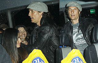 Pictures of Matthew McConaughey and Camila Alves on a Party Bus in LA