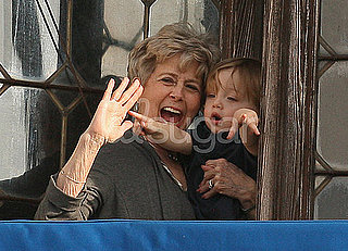 Pictures of Knox Jolie-Pitt and Brad's Mom Jane Pitt in Venice