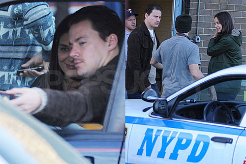 Pictures of Katie Holmes and Channing Tatum Together on Son of No One Set