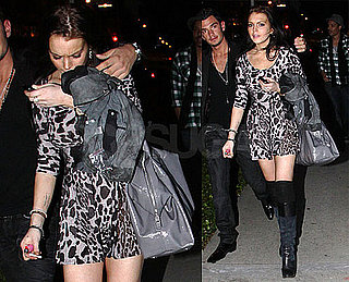Pictures of Lindsay Lohan Partying at LA's Trousdale