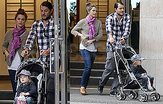Pictures of Keri Russell Walking in Vancouver With Shane and River Deary Before Filming Wilde Kingdom