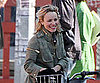Slide Picture of Rachel McAdams on a Bike in Toronto
