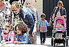 Pictures of Heidi Klum at The Grove in LA With Her Kids Leni, Lou, Henry, and Johan