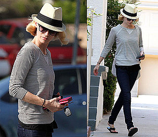 Pictures of January Jones In LA After News Of Mad Men's End Date