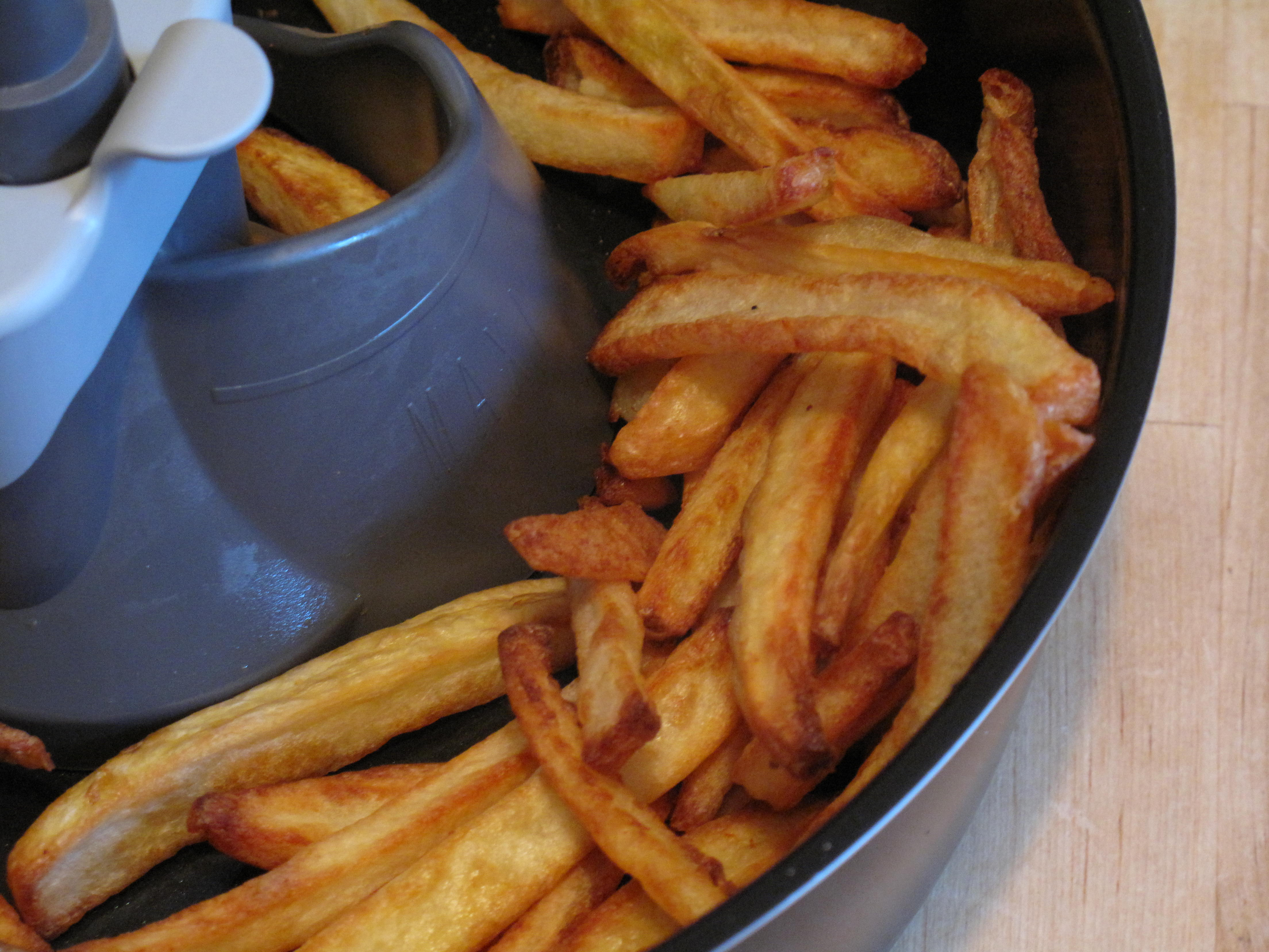 The finished fries.