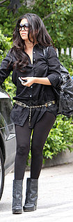 Kourtney Kardashian Wears All Black to Visit a Friend in LA