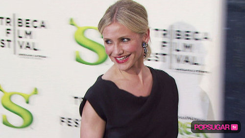 Cameron Diaz on the Red Carpet For Shrek Forever After at the 2010 Tribeca Film Festival