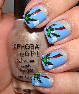 Palm Tree Manicure Pictures and How To
