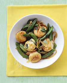 Scallop and Snap Pea Stir-Fry Recipe