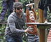 Slide Picture of Brad Pitt and Shiloh At Venice Park